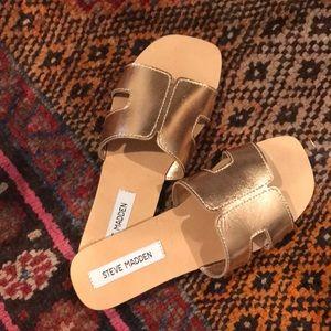 Rose Gold Steve Madden Sandals - Never Worn
